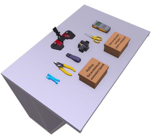 Монтаж оптического волокна механическими соединителями